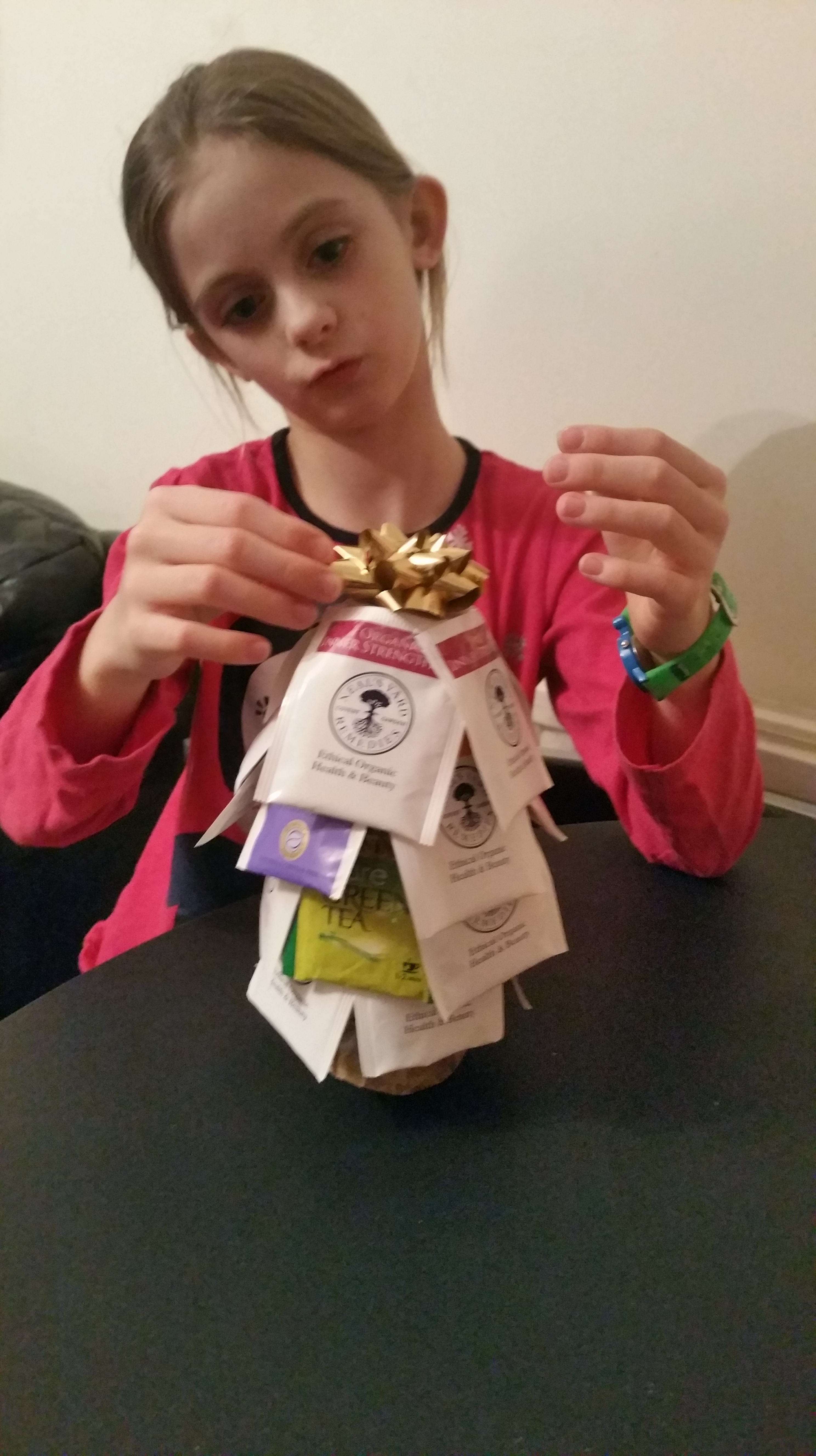 DIY Christmas Tea Bag Tree