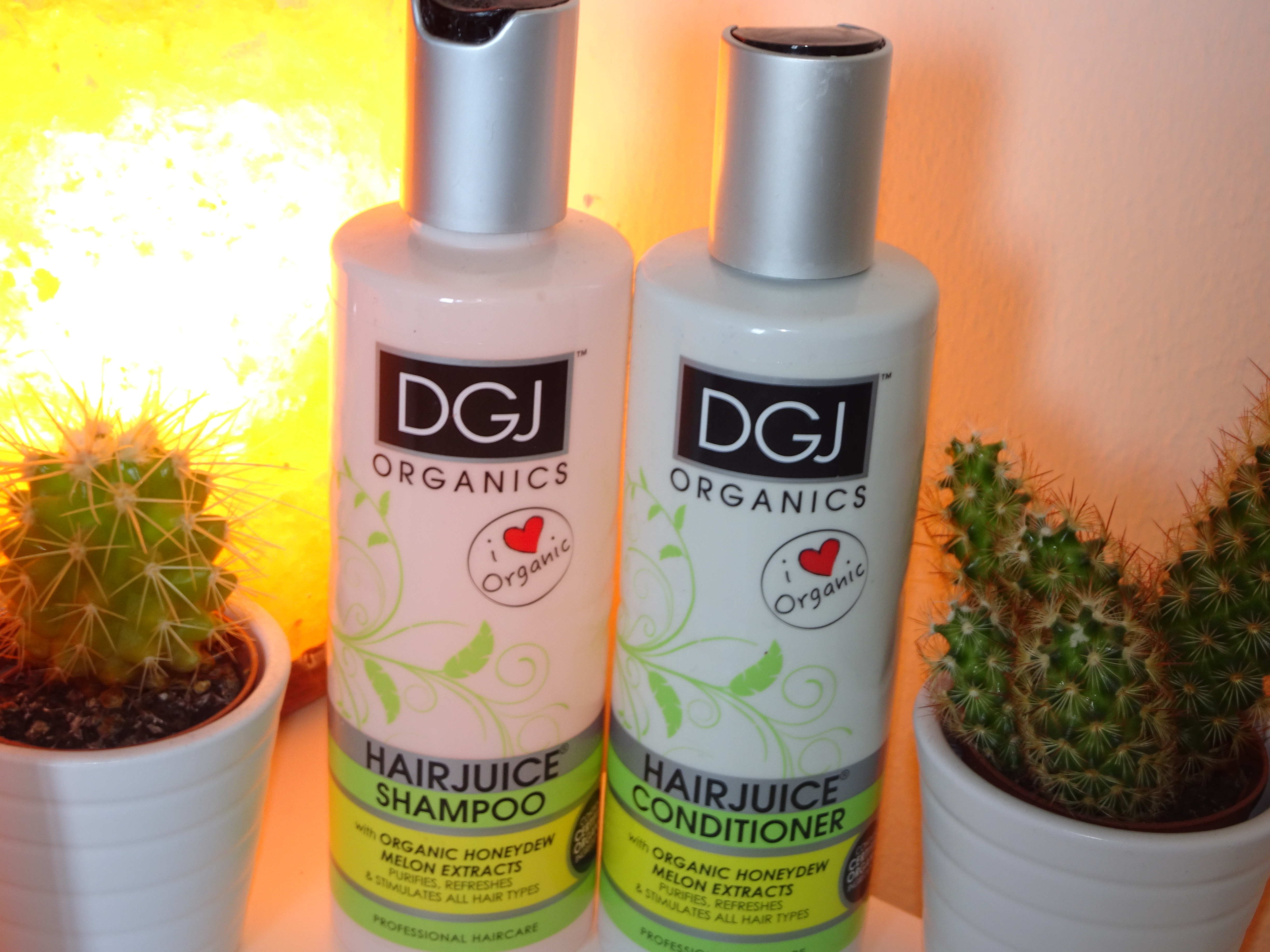 DGJ Organics HairJuice Shampoo and conditioner